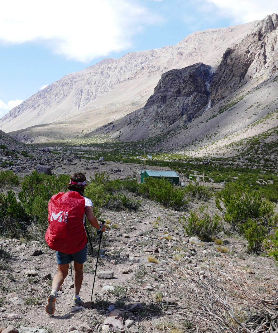 Approaching camp at end of day 1 on the trek