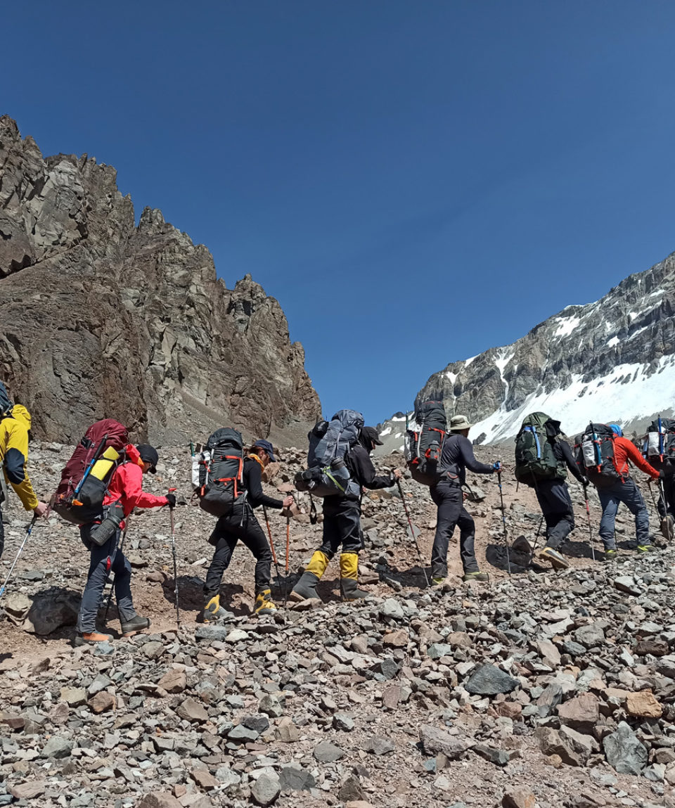 heading up to camp 1 from plaza de argentina