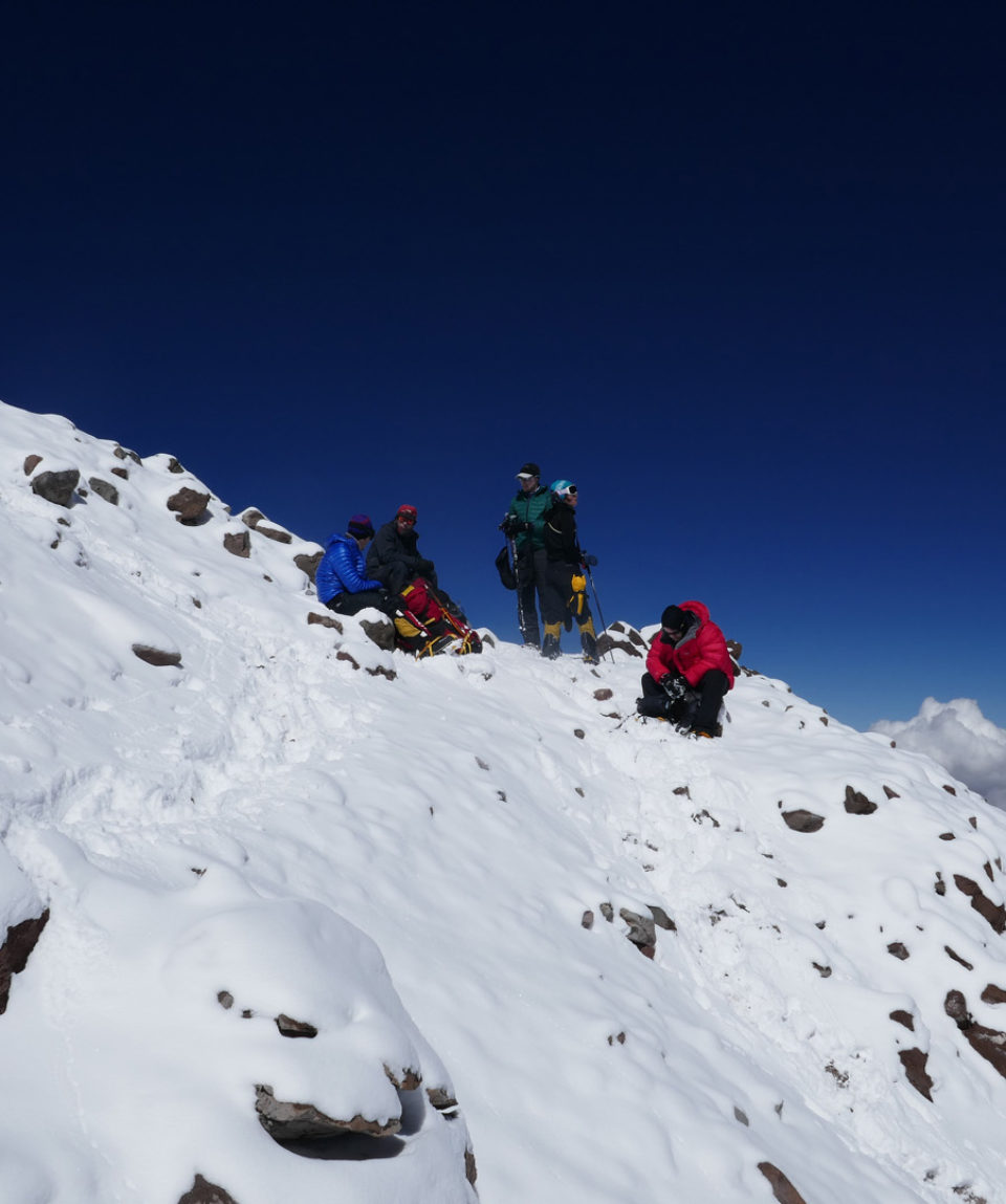 perfect weather on summit day