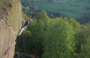 Peak district climbing Curbar