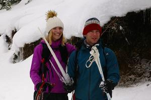 Fun while snowshoeing