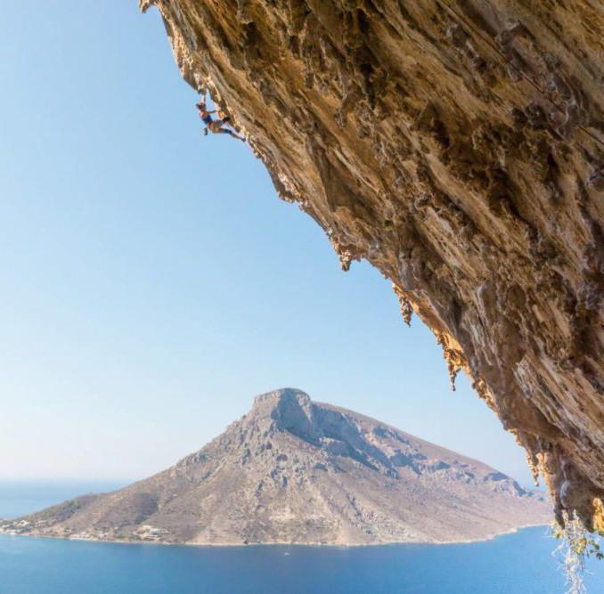 Cliffs passed on the Kalymnos trek