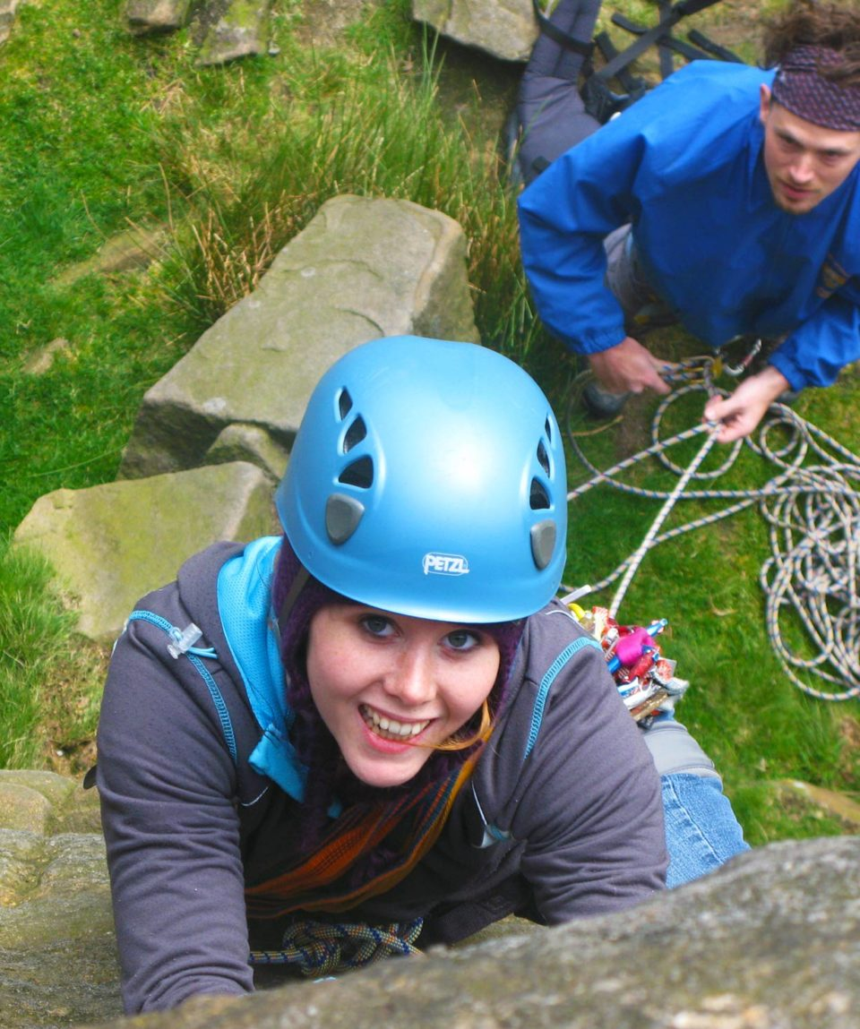 Rock-climbing and bouldering in the Peak district days