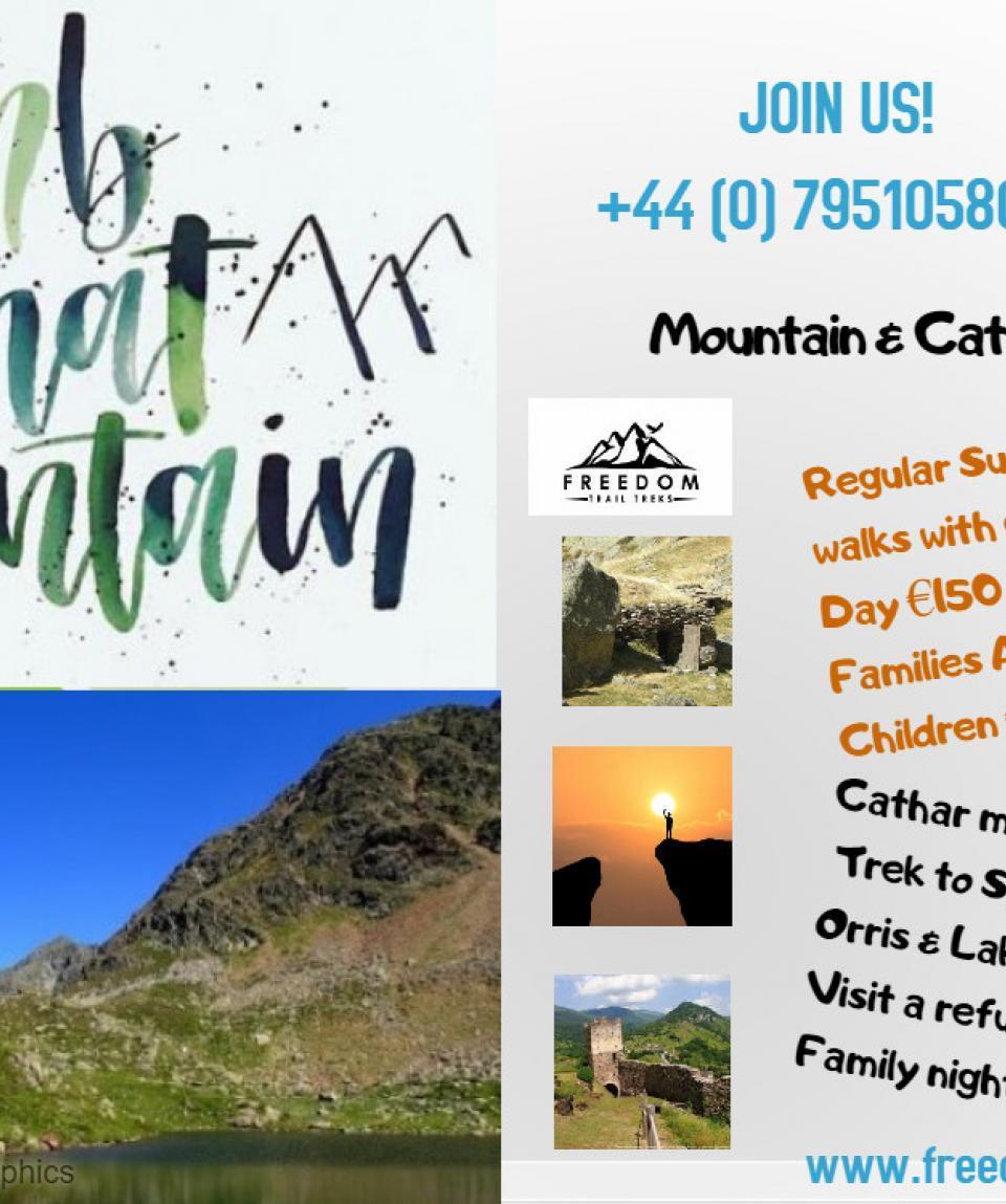 Mountain walking poster