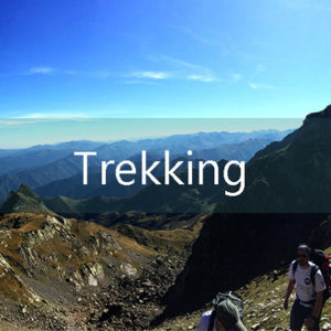 Trekking freedom trail in the pyrenees