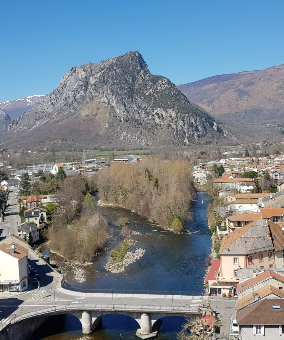 View from Tarascon Resistance memorial