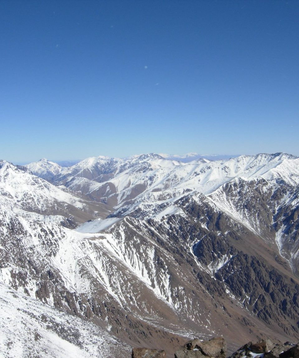 Looking east from Toubkal