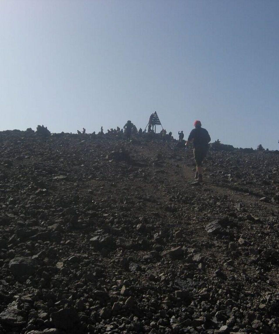 The last part of Toubkal ascent
